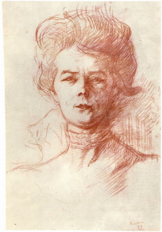 Анри де Тулуз-Лотрек. Портрет Джейн Авриль
