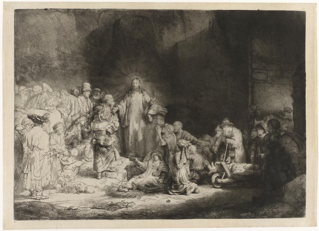 Рембрандт Харменс ван Рейн. Христос, исцеляющий больных (Лист на сто гульденов)