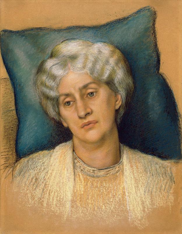 Evelyn De Morgan (Pickering). Portrait of Jane Bearden Morris