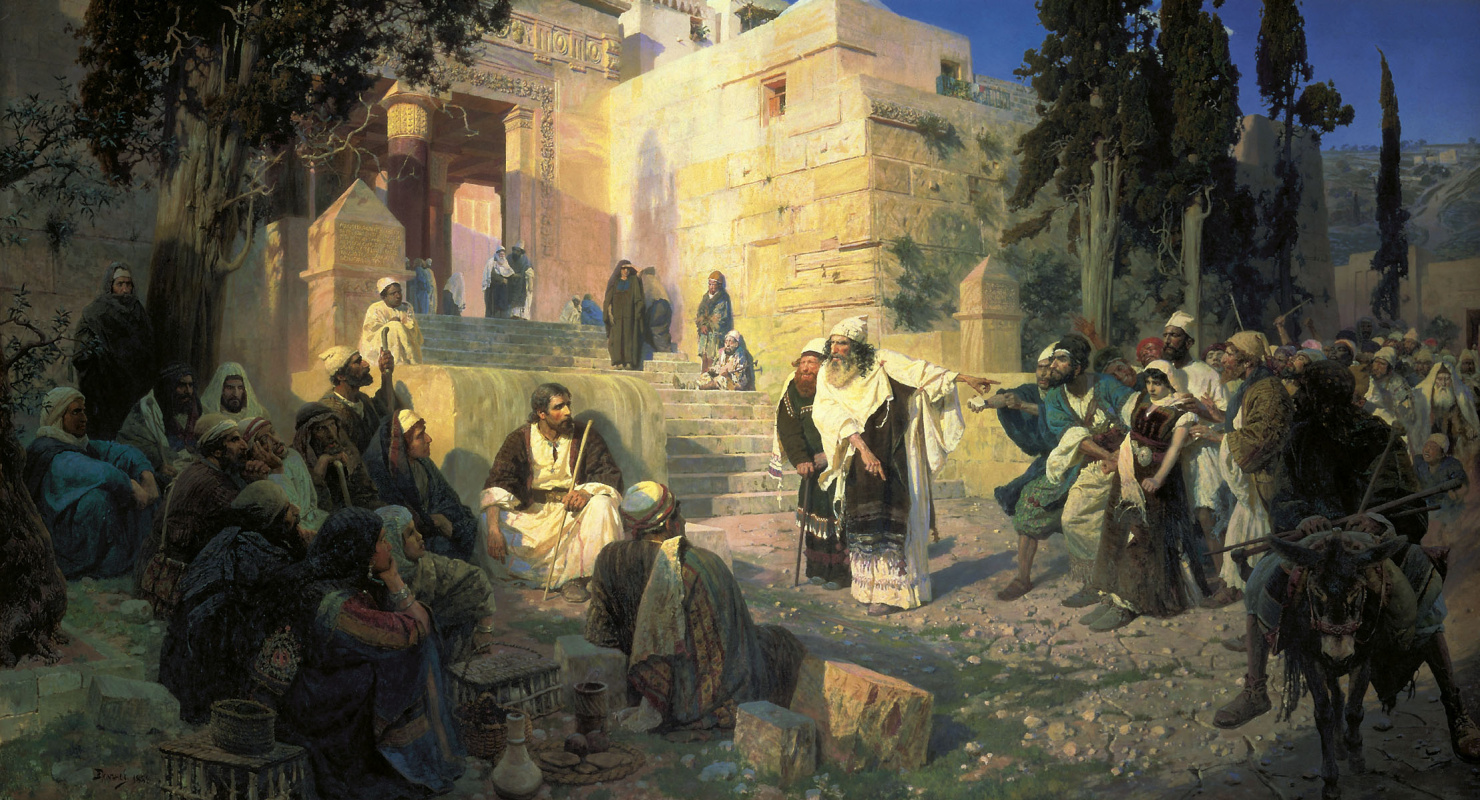 Vasily Polenov. Christ and the sinner (Who is without a sin?)