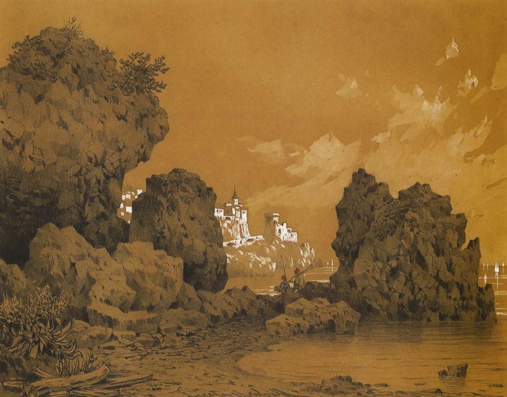 Сократ Максимович Воробьев. Замок на берегу моря