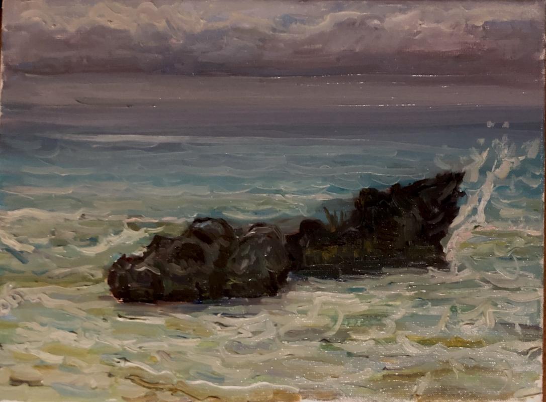 Victoria Malshakova. Rain in the ocean.