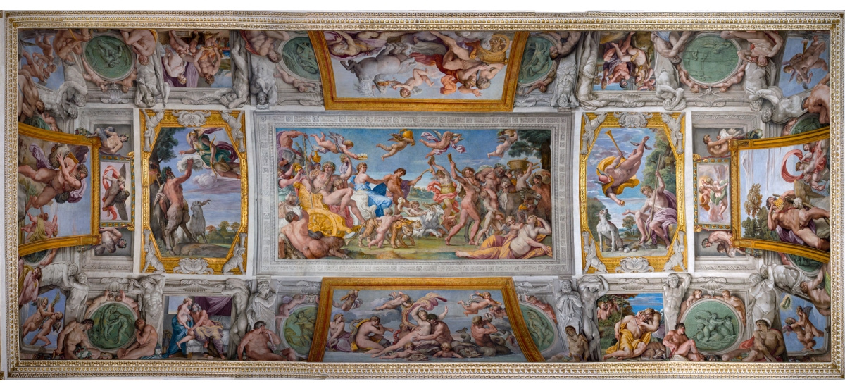 """Annibale Carracci. The cycle of frescoes """"the love of the Gods"""""""