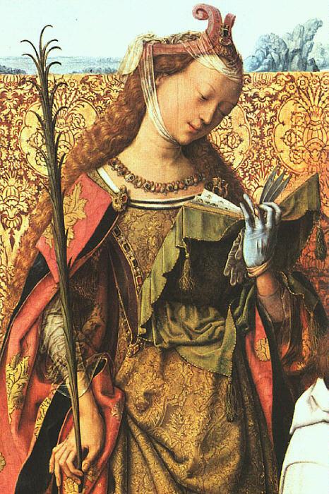 Мастер алтаря Святого Варфоломея. Святая Агнес