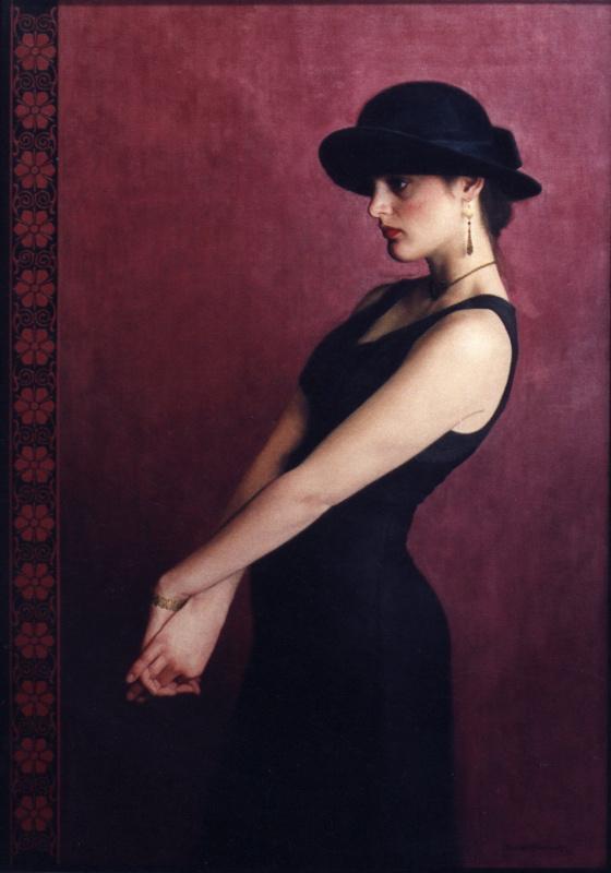 Пол Маккормак. Девушка в черной шляпе