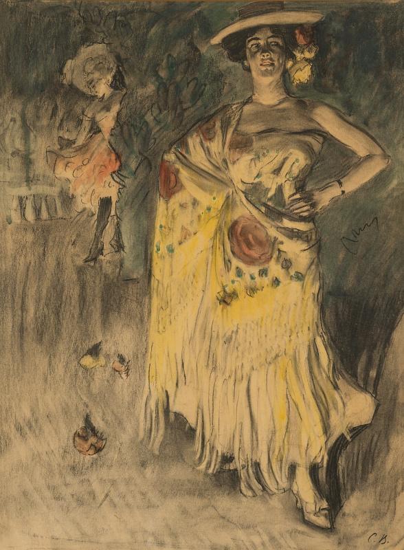 Испанская танцовщица. Эскиз к портрету Каролины Отеро