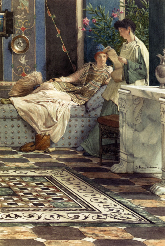 Ford Madox Brown. Reading