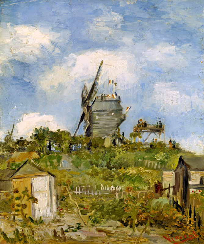 Винсент Ван Гог. Ветряная мельница (версия)