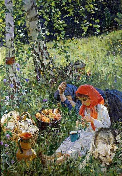 Аркадий Александрович Пластов. Летом