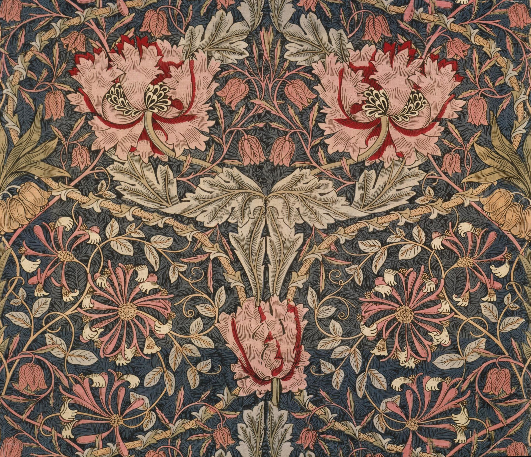 William Morris.  Chèvrefeuille