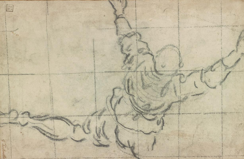 Jacopo (Robusti) Tintoretto. Man Climbing into a Boat