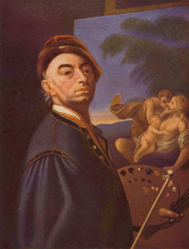 Петер Иоганн Брандль. Автопортрет