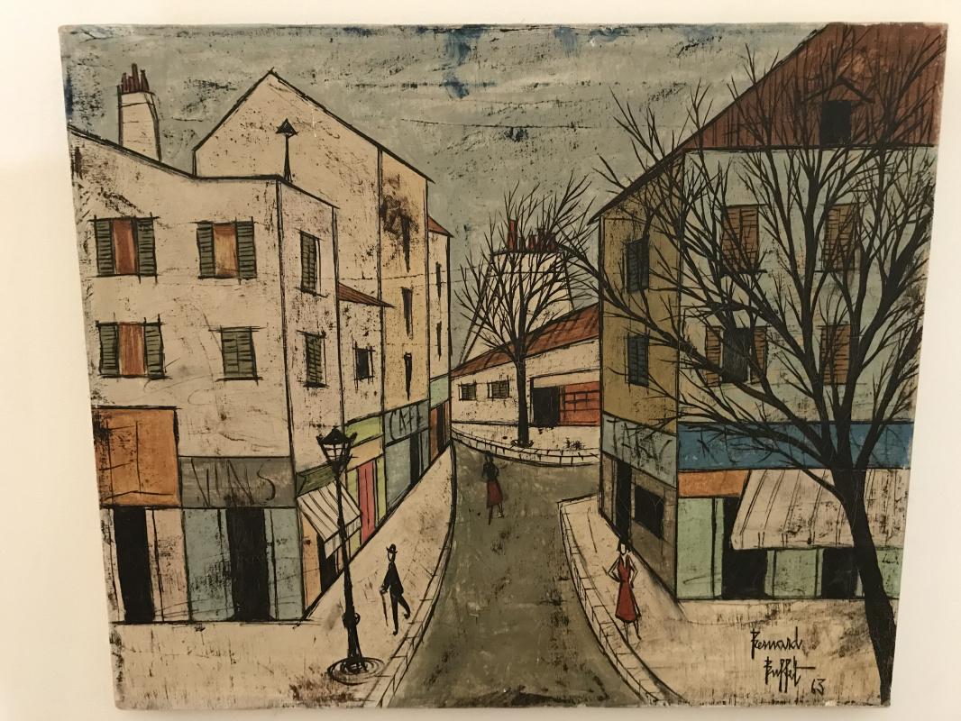 Bernard Buffet. Paris Street Scene