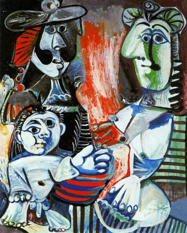 Пабло Пикассо. Семья (Мужчина, женщина и ребенок)