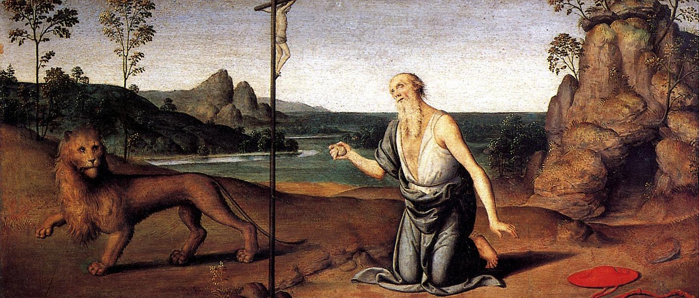 Pietro Giovanni Di. Saint Jerome in the desert
