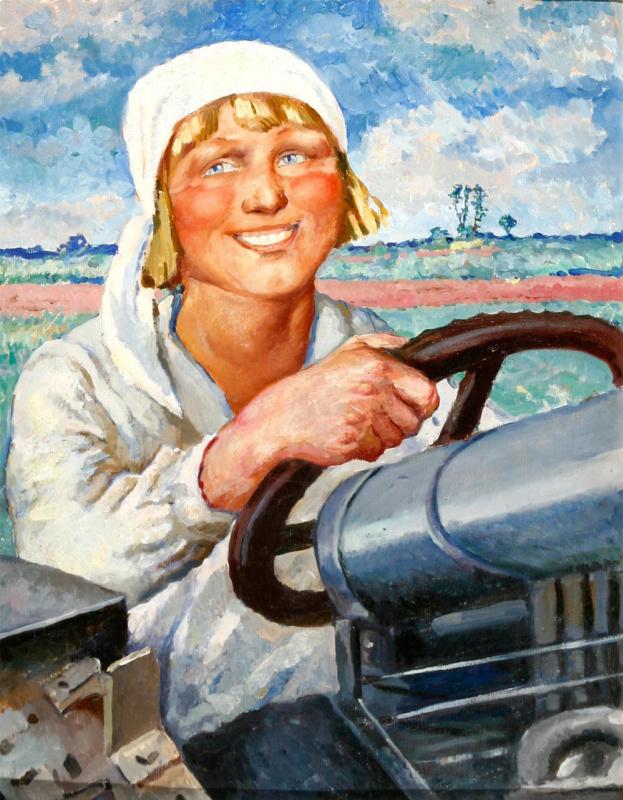 Eugene Aleksandrovich Lviv. Dunya-tractor driver