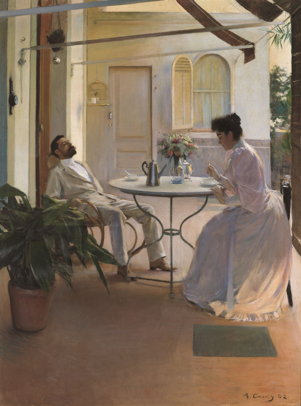 Ramon Casas i Carbó. Open air interior