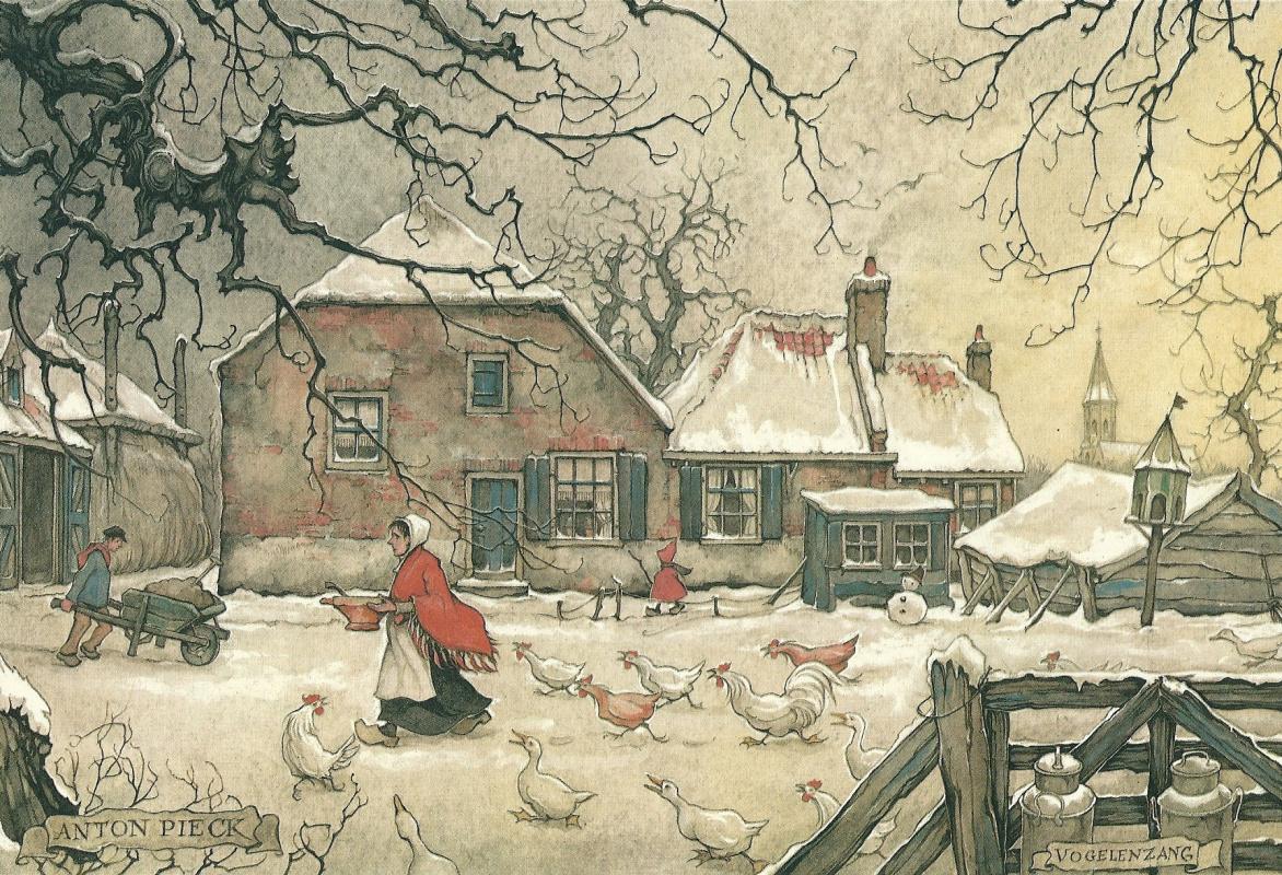 Anton Pieck. City scenes. Vogelsang