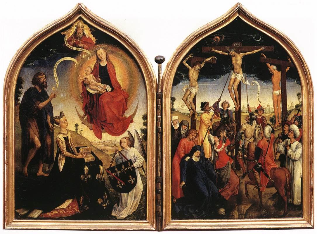 Rogier van der Weyden. Diptych Joanna French