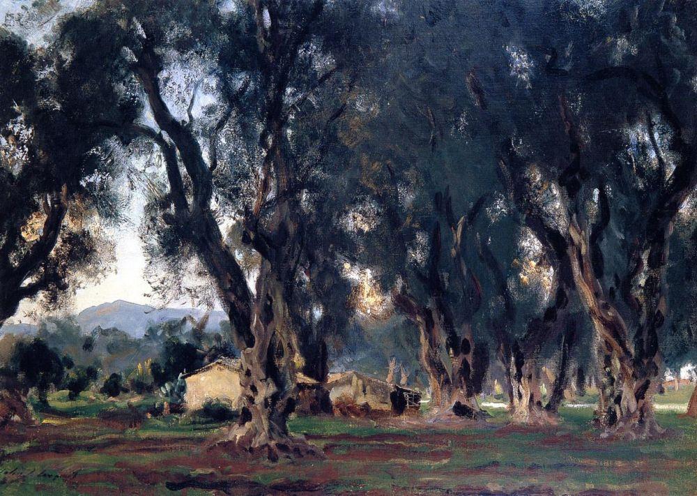 Джон Сингер Сарджент. Оливковые деревья на Корфу