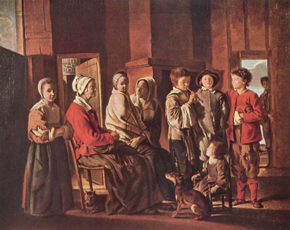 Антуан, Луи и Матье Ленен. Визит к бабушке