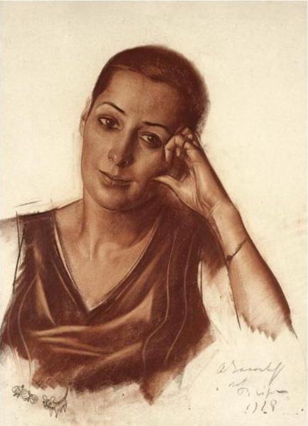 Alexander Yakovlev. Female portrait