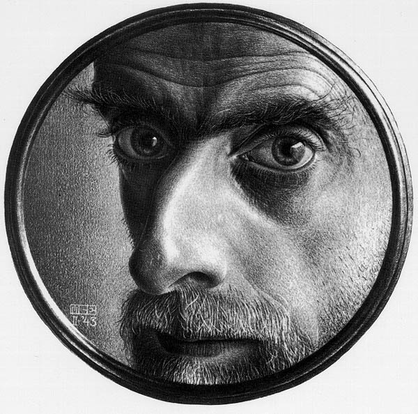 Мауриц Корнелис Эшер. Автопортрет в зеркале