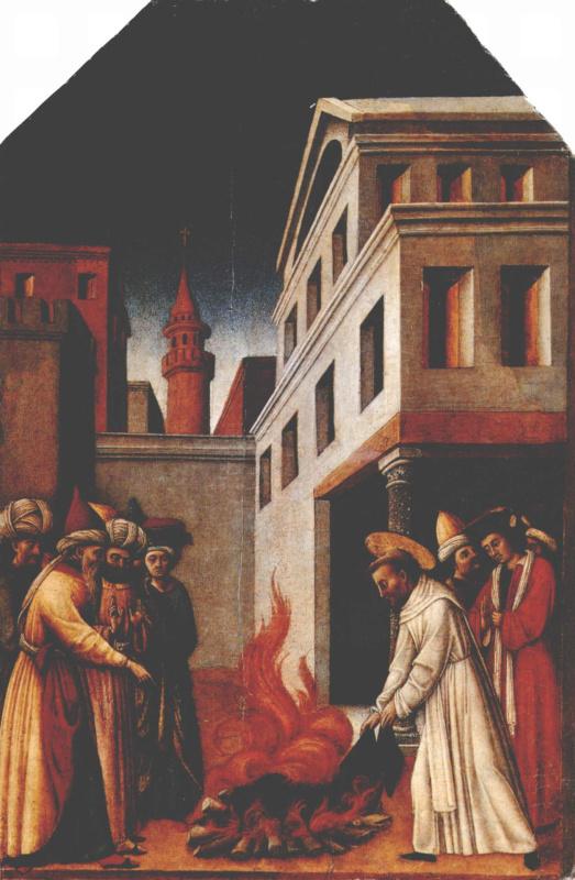 Св. Петр Мартир творит чудо с огнем перед Султаном