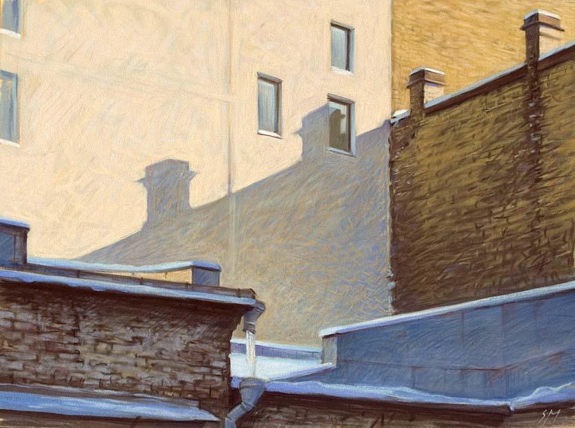 Sergey Alekseevich Makarov. Winter in the city 3