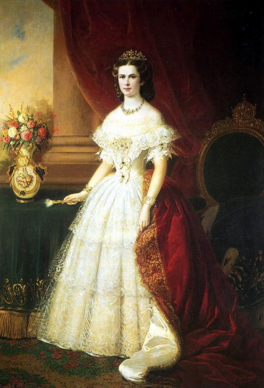 Franz Russ the Elder. Empress Elizabeth in a tiara