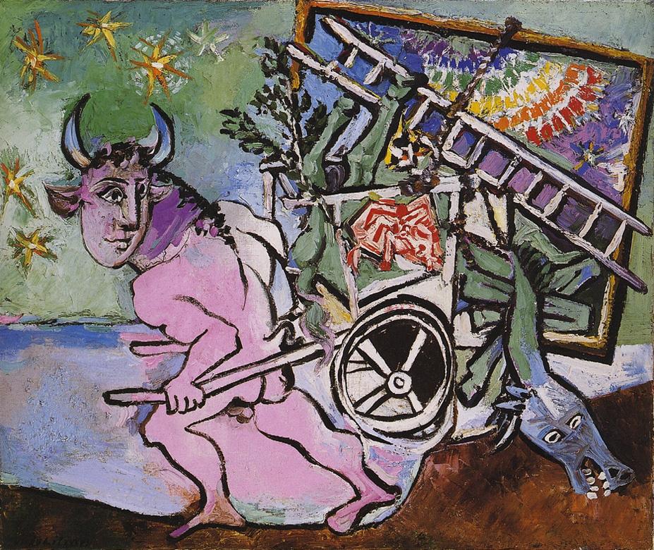 Пабло Пикассо. Минотавр с телегой