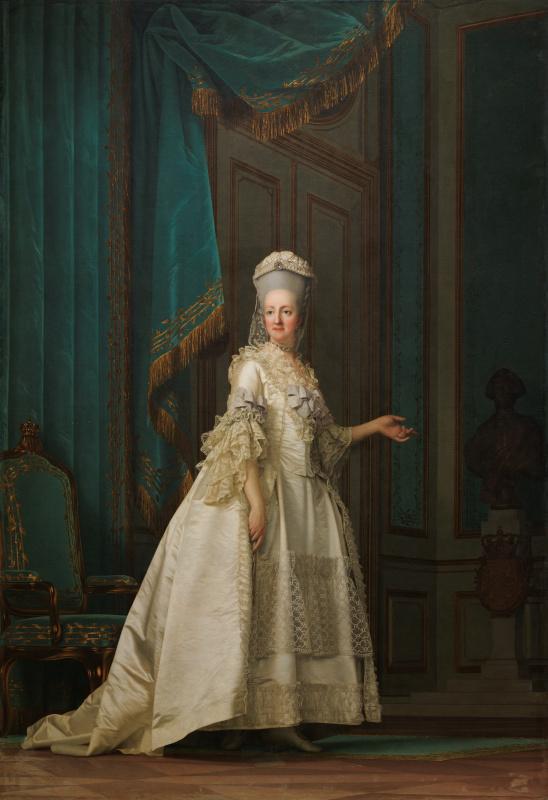 Виргилиус Эриксен. Портрет вдовствующей королевы Юлианы Марии Датской