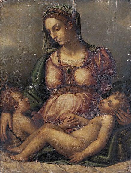 Джорджо Вазари. Мадонна с Младенцем и Иоанном Крестителем (копия 16 в. с оригинала Вазари)