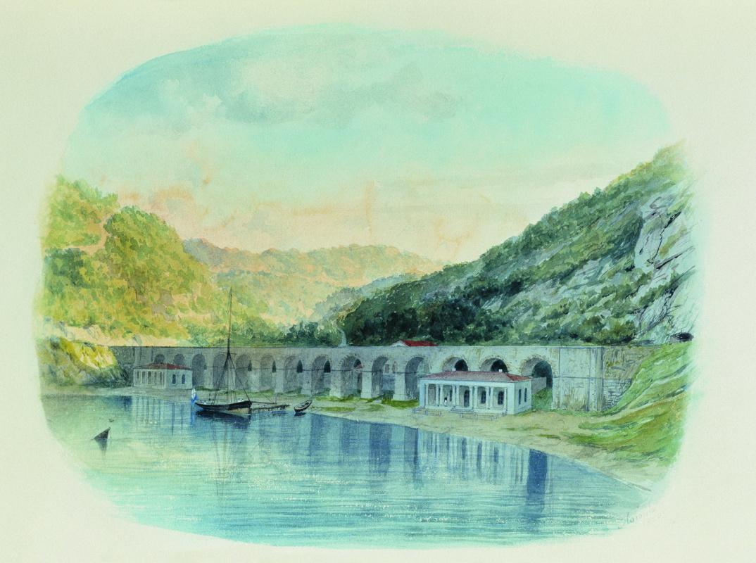 Лев Феликсович Лагорио. Севастопольский водопровод в Севастопольской балке