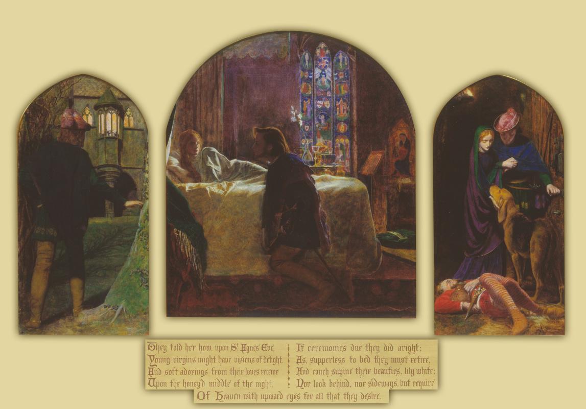 Артур Хьюз. Триптих: Канун дня Святой Агнессы