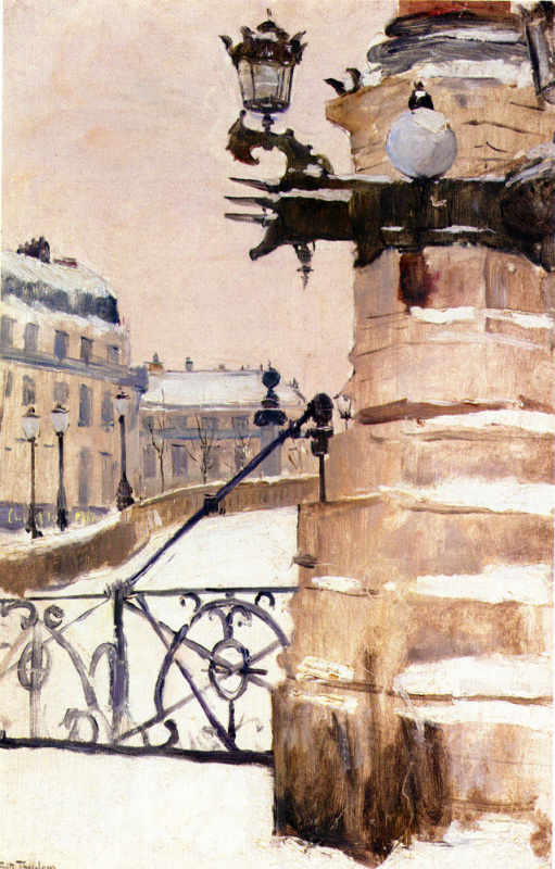 Frits Thaulow. Winter in Paris