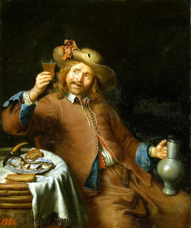 Питер Корнелис ван Слингеланд. Завтрак молодого человека