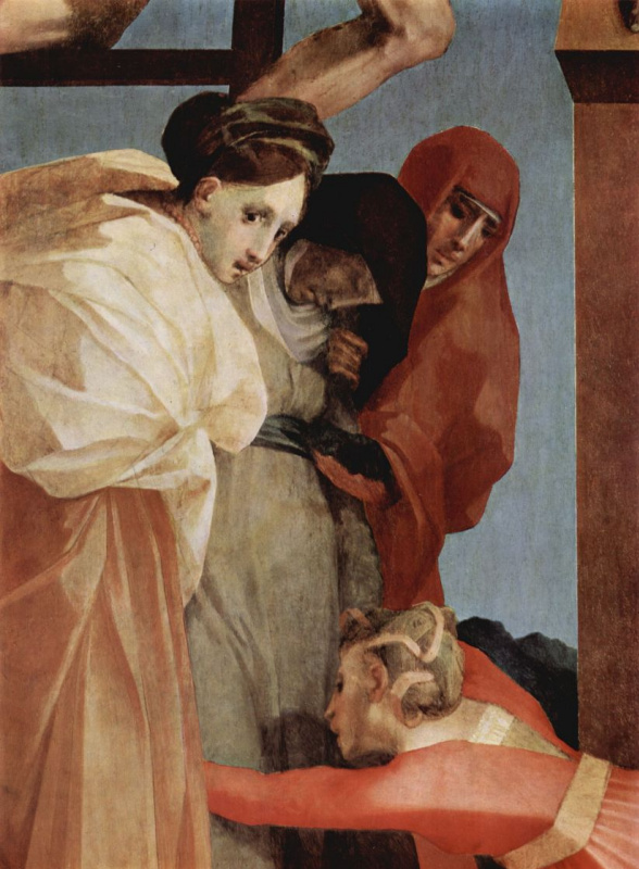 Fiorentino Rosso. The descent from the cross, detail
