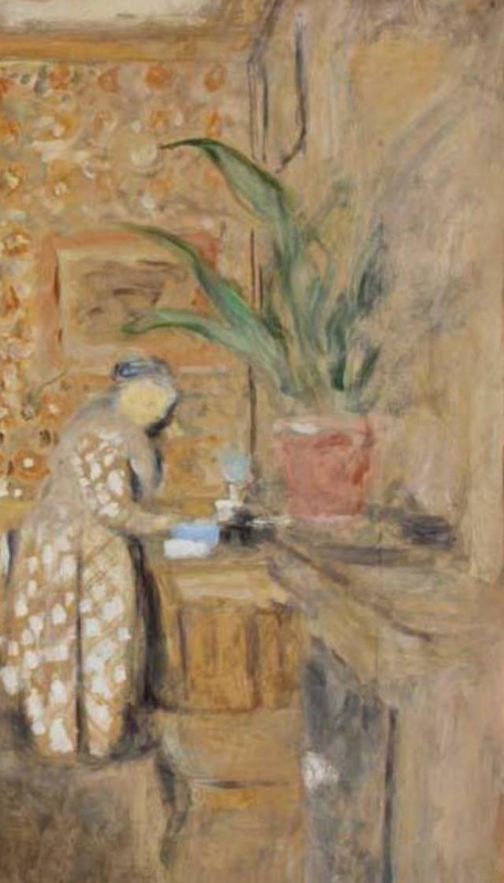 Jean Edouard Vuillard. Dining room. Interior with two chairs. Fragment 2