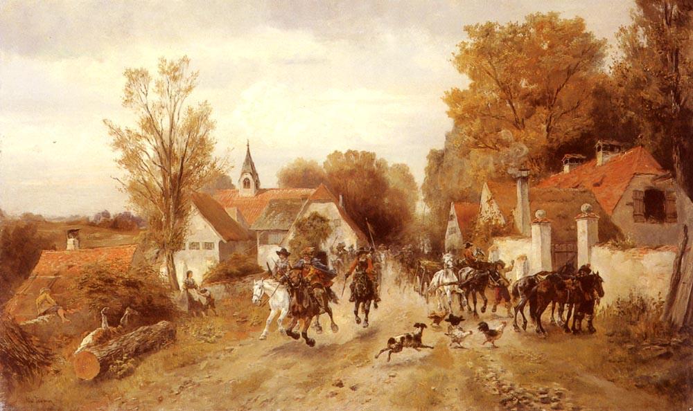 Friedrich Friedlander. Cavalry
