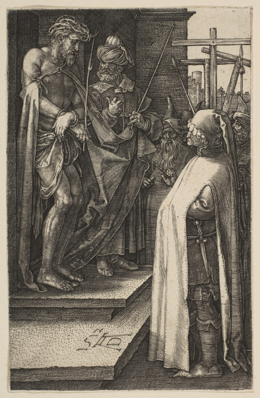 "Albrecht Dürer. ""Behold the man"". From the cycle ""the passion of the Christ"""