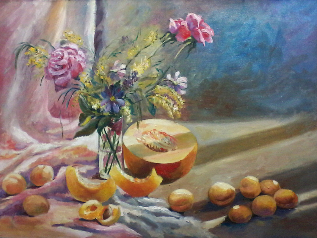 Olga Suncheleeva. In the morning sun