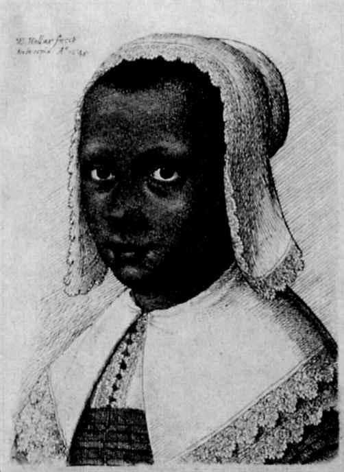 Венцель Холлар. Портрет юной африканки