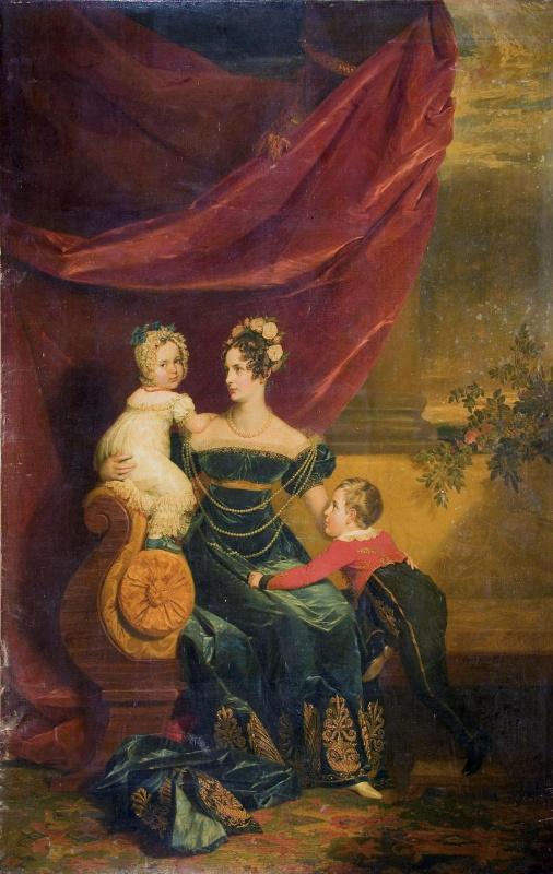 Portrait of Grand Duchess Alexandra Feodorovna with children