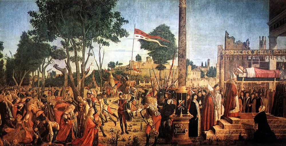 Vittore Carpaccio. Martyrdom of the pilgrims and funeral of St. Ursula