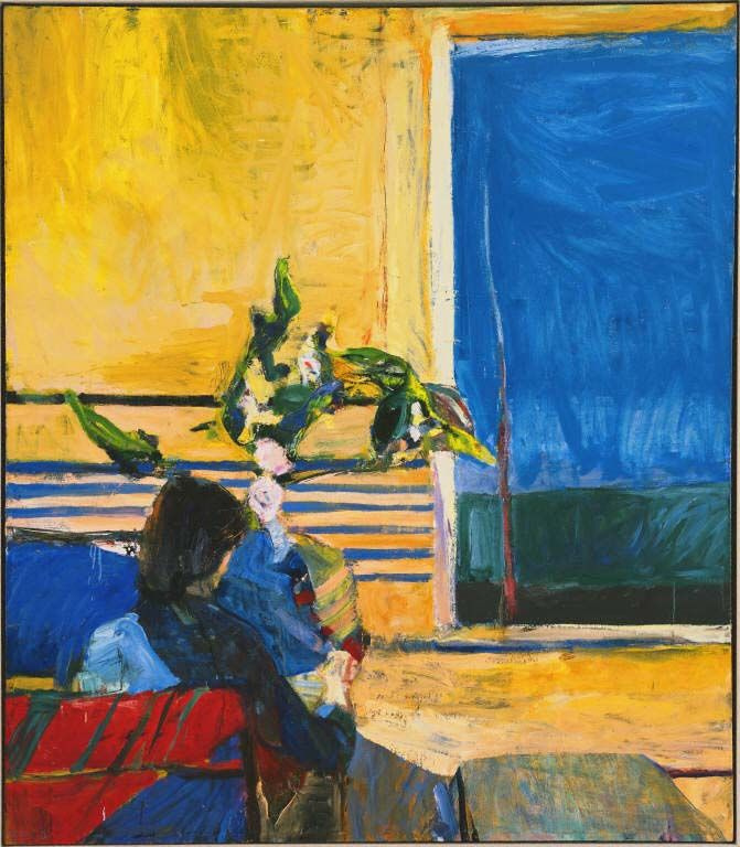 Richard Dibenkorn. The girl and the plant