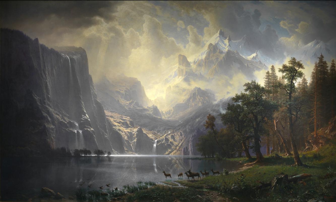 Альберт Бирштадт. Среди гор Сьерра-Невада, Калифорния