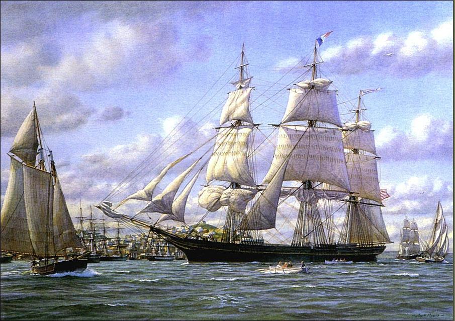 Mark Myers. Sailing ship 21