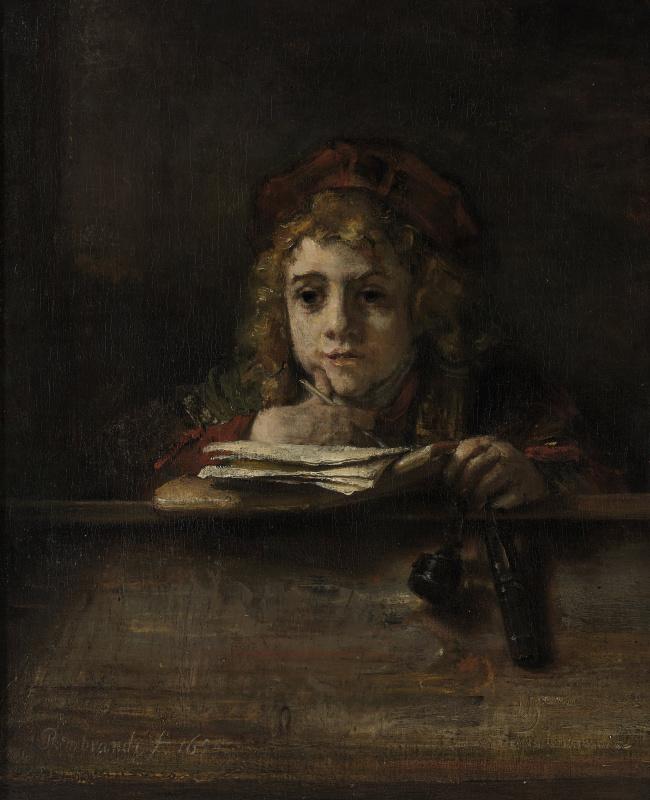 Рембрандт Харменс ван Рейн. Титус за столом