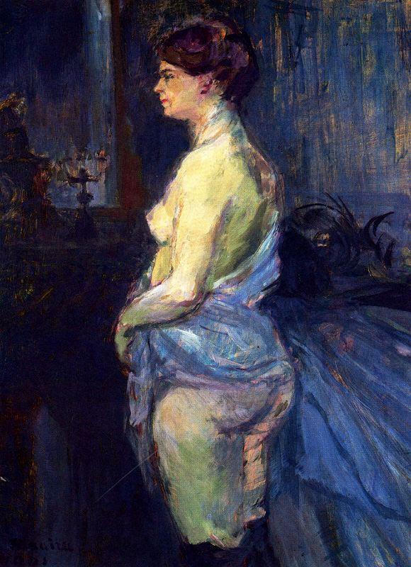 Анри де Тулуз-Лотрек. Женщина поднимает рубашку